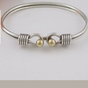 TIFFANY RARE DOUBLE 18KT BALL BANGLE